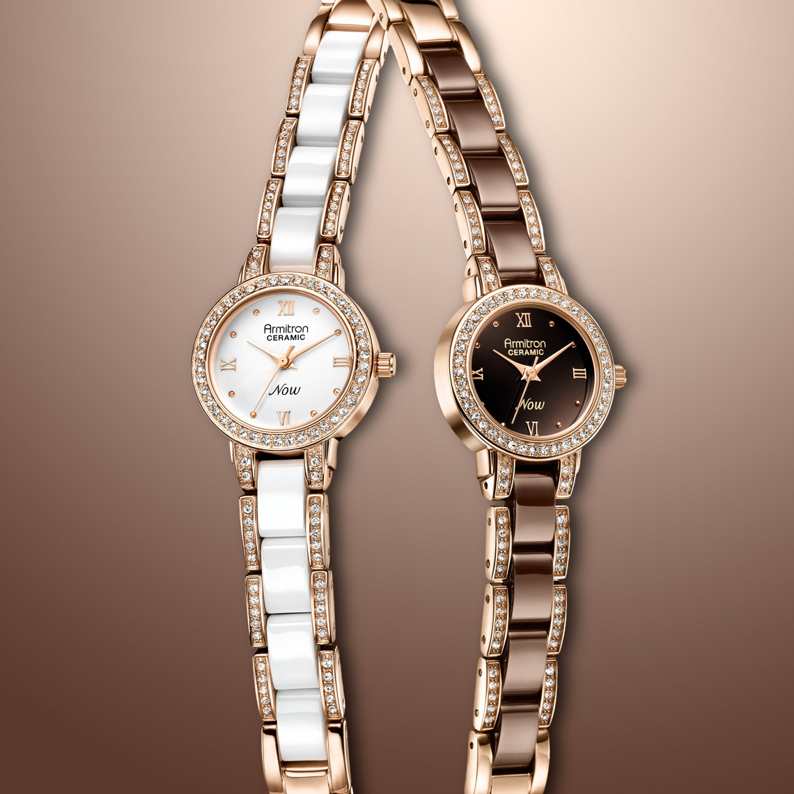 Advertising product photography - Armitron ceramic watches beauty shot brochure and display