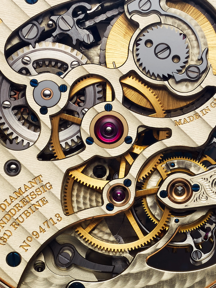 Timepiece photography - A. Lange & Sohne luxury watch movement detail - watch photographer Kliton Ceku