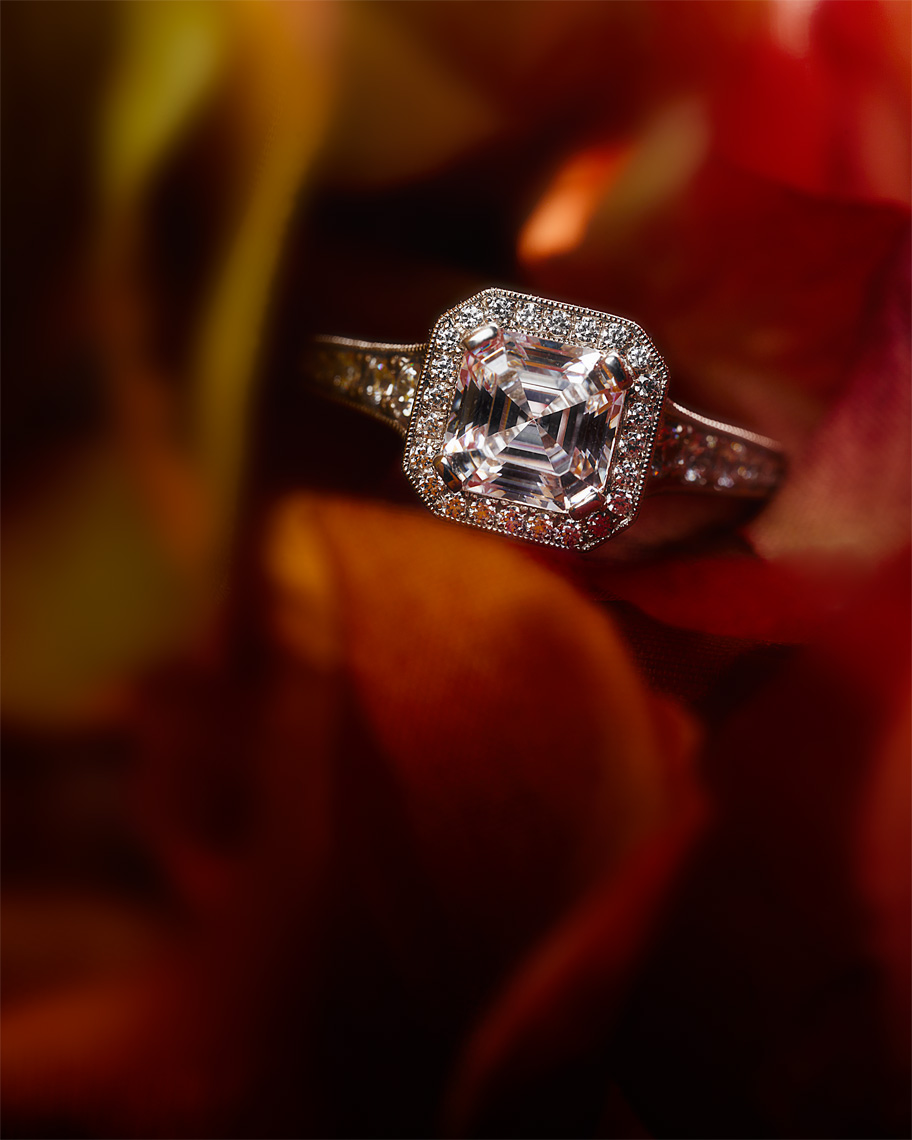 jewelry photographer Kliton Ceku - diamond on fire