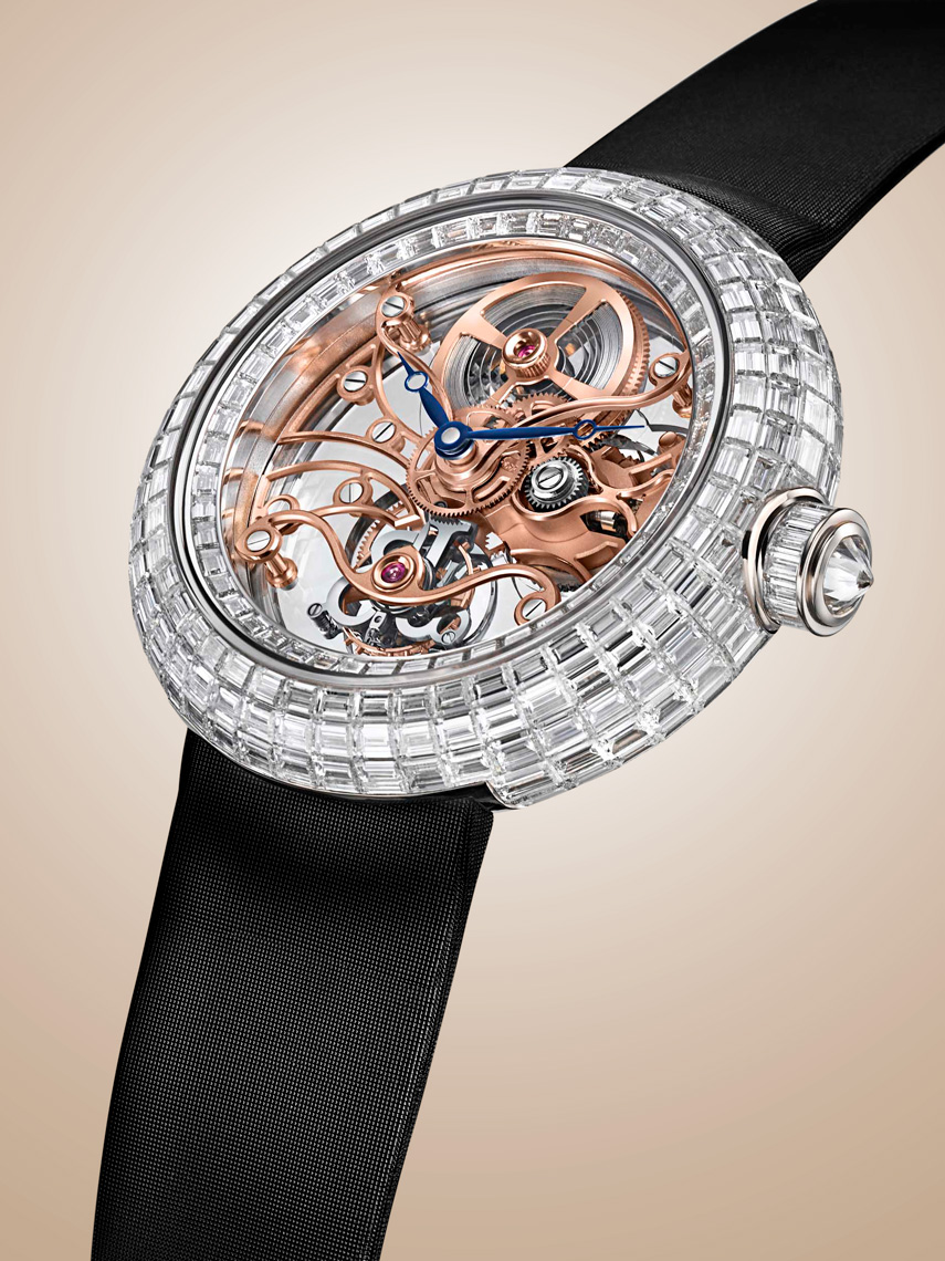 Timepiece watch photography - Jacob&Co diamonds bezel, red gold skeleton dial - photographer Kliton Ceku