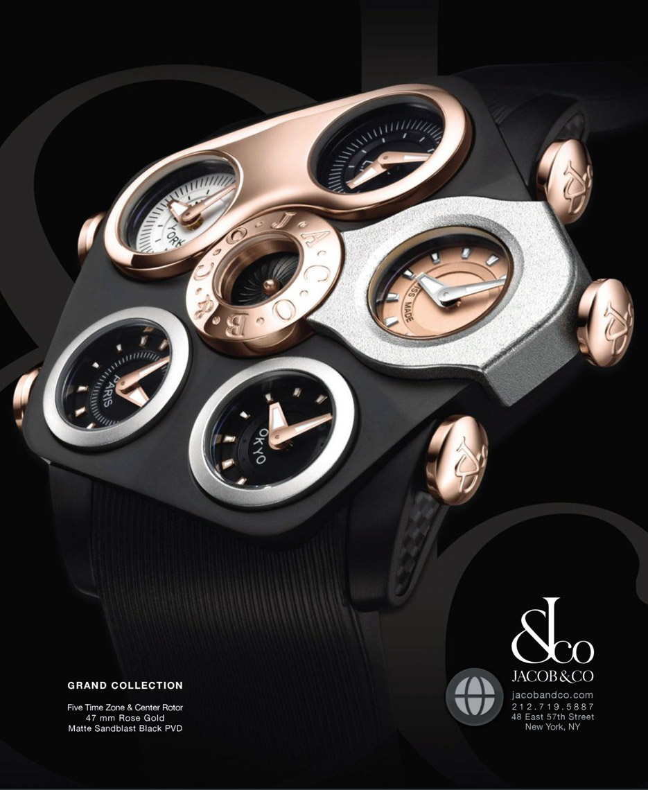 Mechanical timepiece photography-JacobCo Ad