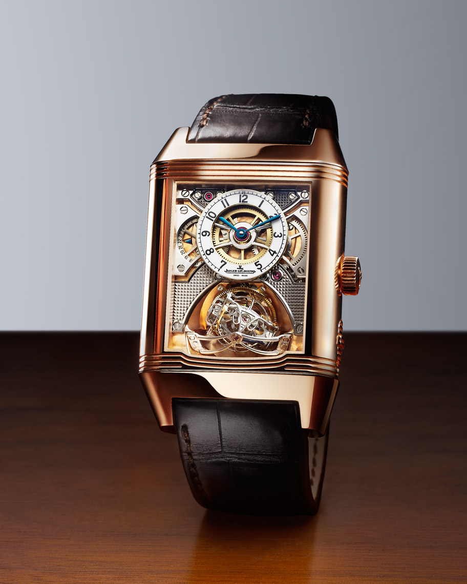 Timepiece watch photography NYC - Jaeger LeCoultre Hybris Mechanica Reverso Gyrotourbillon 2