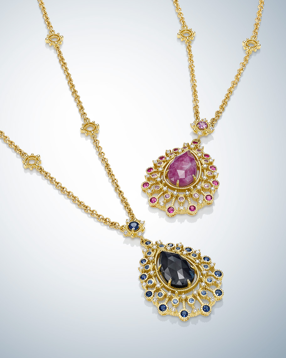 Photography of Judith Ripka Necklaces by Jewelry Photographer Kliton Ceku