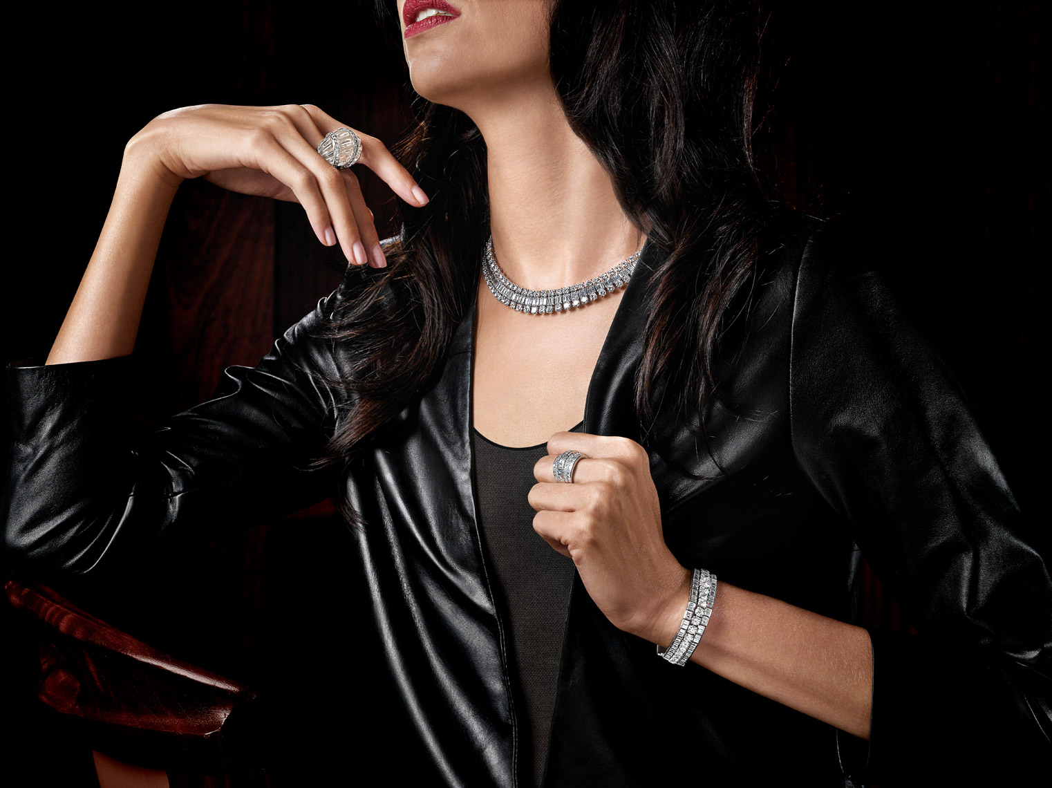 NYC Jewelry Photographer Kliton Ceku - Estate Jewelry on Model Photography