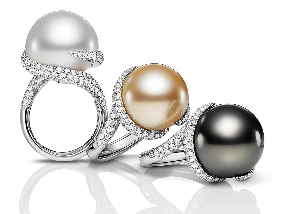 Jewelry Photography of Mastoloni Pearls